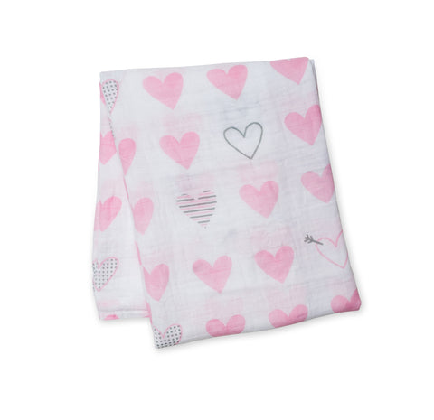 Hearts Cotton Swaddle