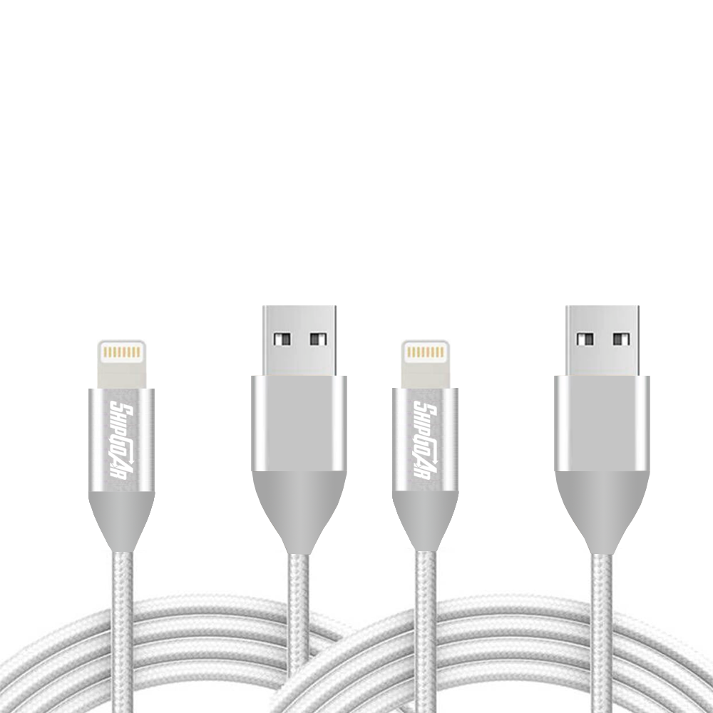 USB Lightning cable 10Ft Braided 2 pack Shipgoar