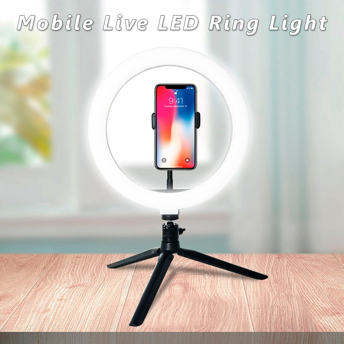10inch Ring Stand with cellPhone Holder for any cellphone