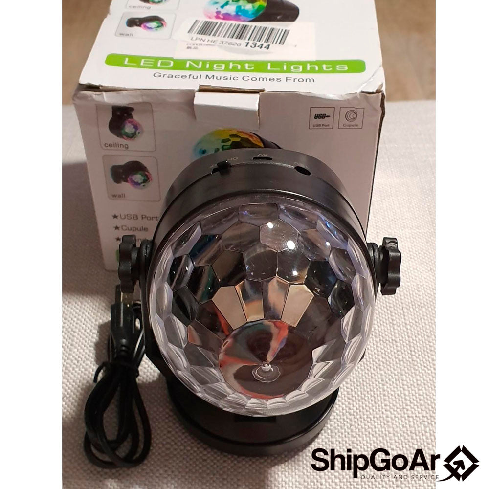 Party Lights for Outdoor and Indoor, Battery Powered/USB Plug in, Dj Lighting, RBG Disco Ball, Strobe Lamp Stage Par Light for Car Room Dance Parties Birthday DJ Bar Club Pub