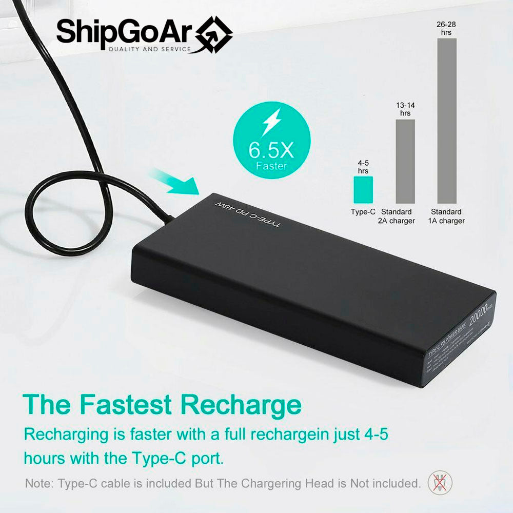 Power Bank 20000mAh USB External Battery Charger For Cell Phone