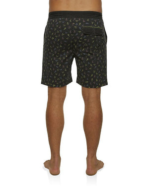 "Mens Micro 19"" Wavewalker Boardshort - Black"