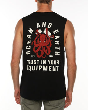 Mens Kraken Muscle Top - Black
