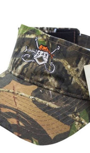 Mossy Oak Visor in Camo by Hook and Bones