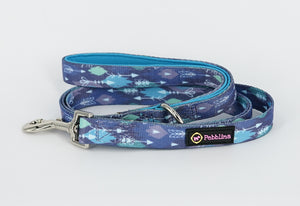 Blue Tribal Dog Lead - Pebblina