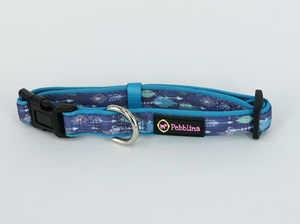 Blue Tribal Dog Collar - Pebblina