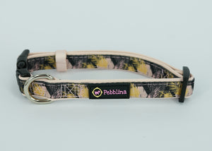 Gold Hexagon Dog Collar - Pebblina