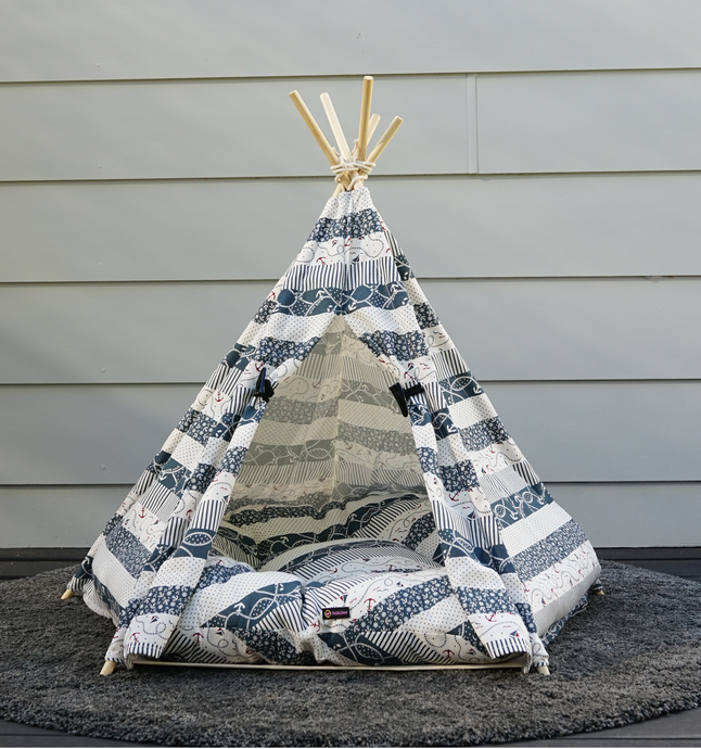 Sailor Teepee Dog Tent - Pebblina