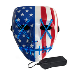 Stitched LED Lighted Mask - American Flag