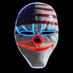 Dallas Evil Clown LED Lighted Mask