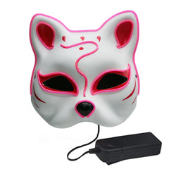 Kitsune Fox LED Lighted Mask