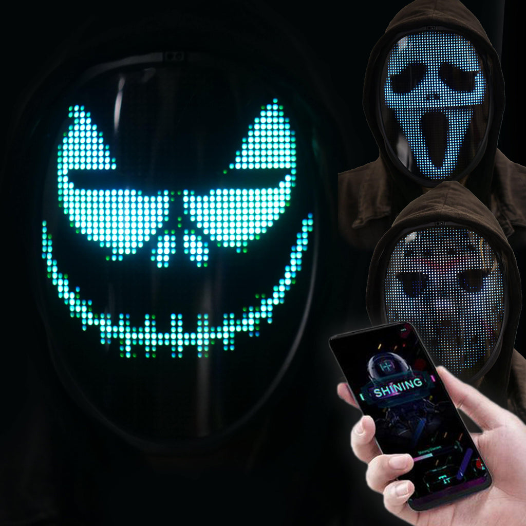 Programmable LED Screen Full Face Mask with App Control