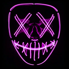 Stitched LED Lighted Mask (Outline) - Pink