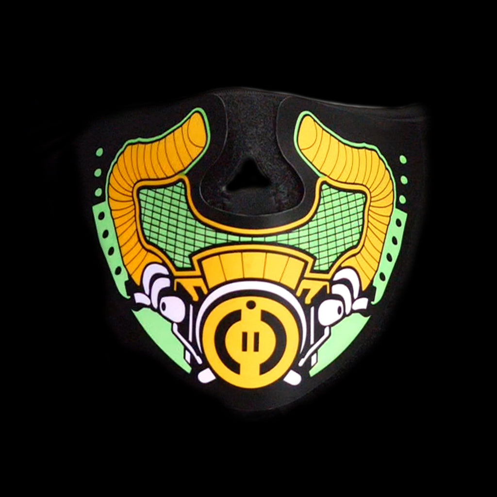 Sound Reactive LED Lighted Half Mask - Apocalypse