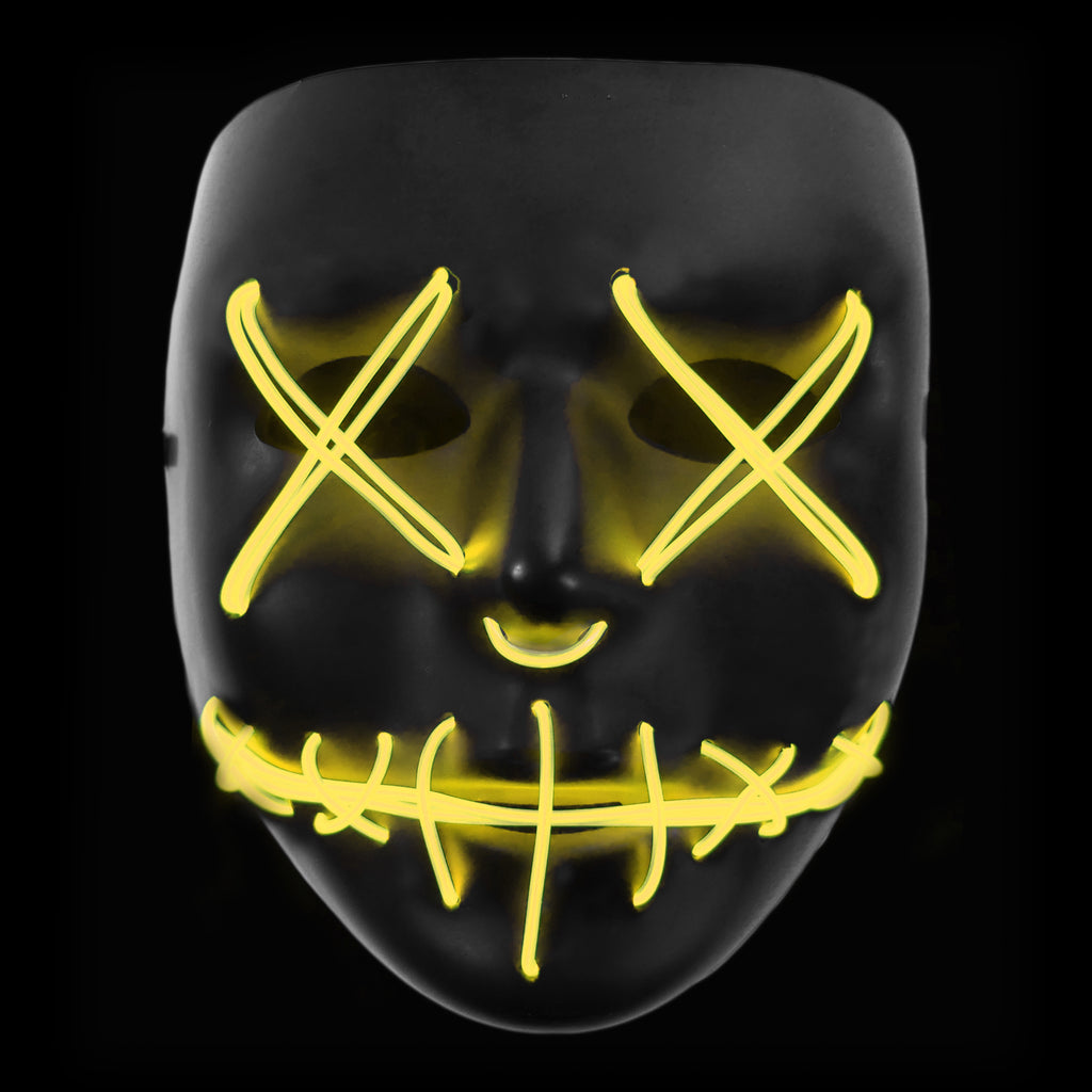 Stitched LED Lighted Mask - Yellow