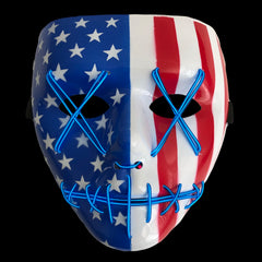 Stitched LED Lighted Mask - American Flag Edition