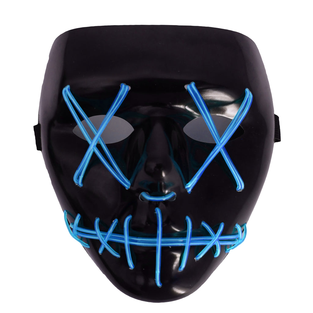 Stitched LED Lighted Mask - Blue