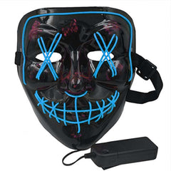 Anonymous Stitched LED Lighted Mask - Blue