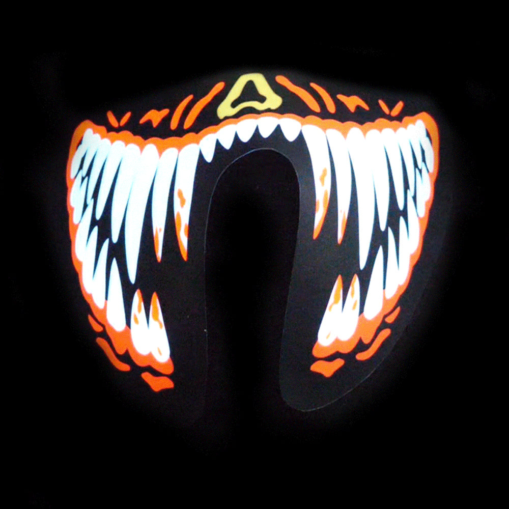 Sound Reactive LED Lighted Half Mask - Red Teeth