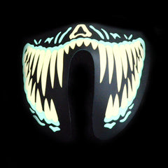 Sound Reactive LED Lighted Half Mask - Yellow Teeth
