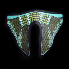 Sound Reactive LED Lighted Half Mask - Green Equalizer