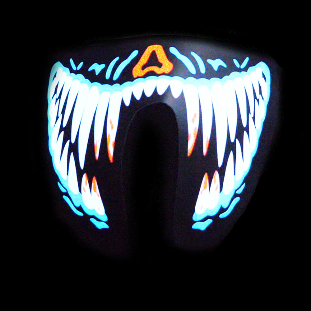 Sound Reactive LED Lighted Half Mask - Blue Teeth