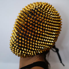 Gold Spikes Studded Full Face Jewel Margiela Mask