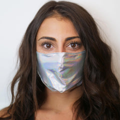 Holographic Half Face Mask - 3 Colors