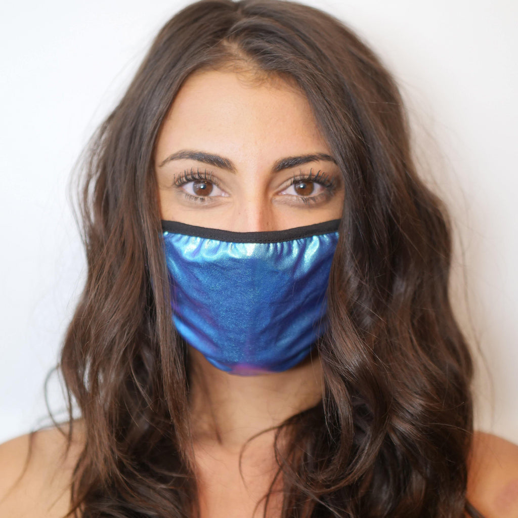 Holographic Half Face Mask - Sapphire