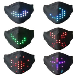 Voice Activated Programable LED Half Face Mask