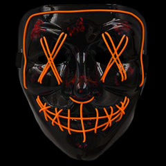 Anonymous Stitched LED Lighted Mask - Orange