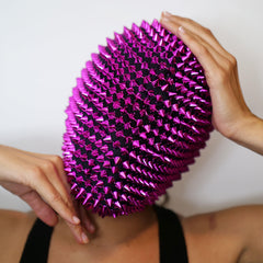 Pink Spikes Studded Full Face Jewel Margiela Mask