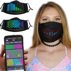 App Controlled Programable LED Half Face Mask