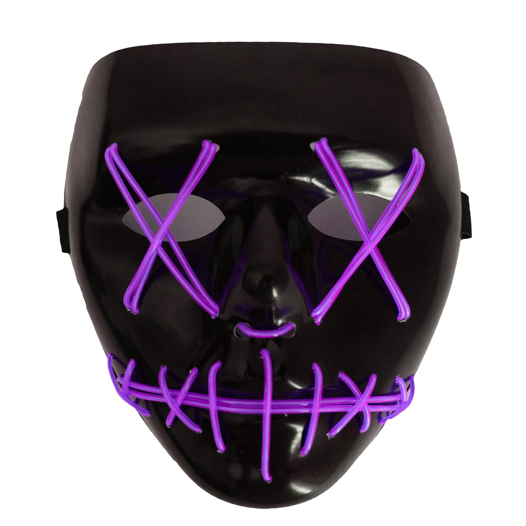 Stitched LED Lighted Mask - Purple
