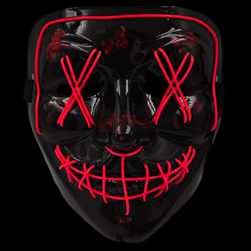Anonymous Stitched LED Lighted Mask - Red