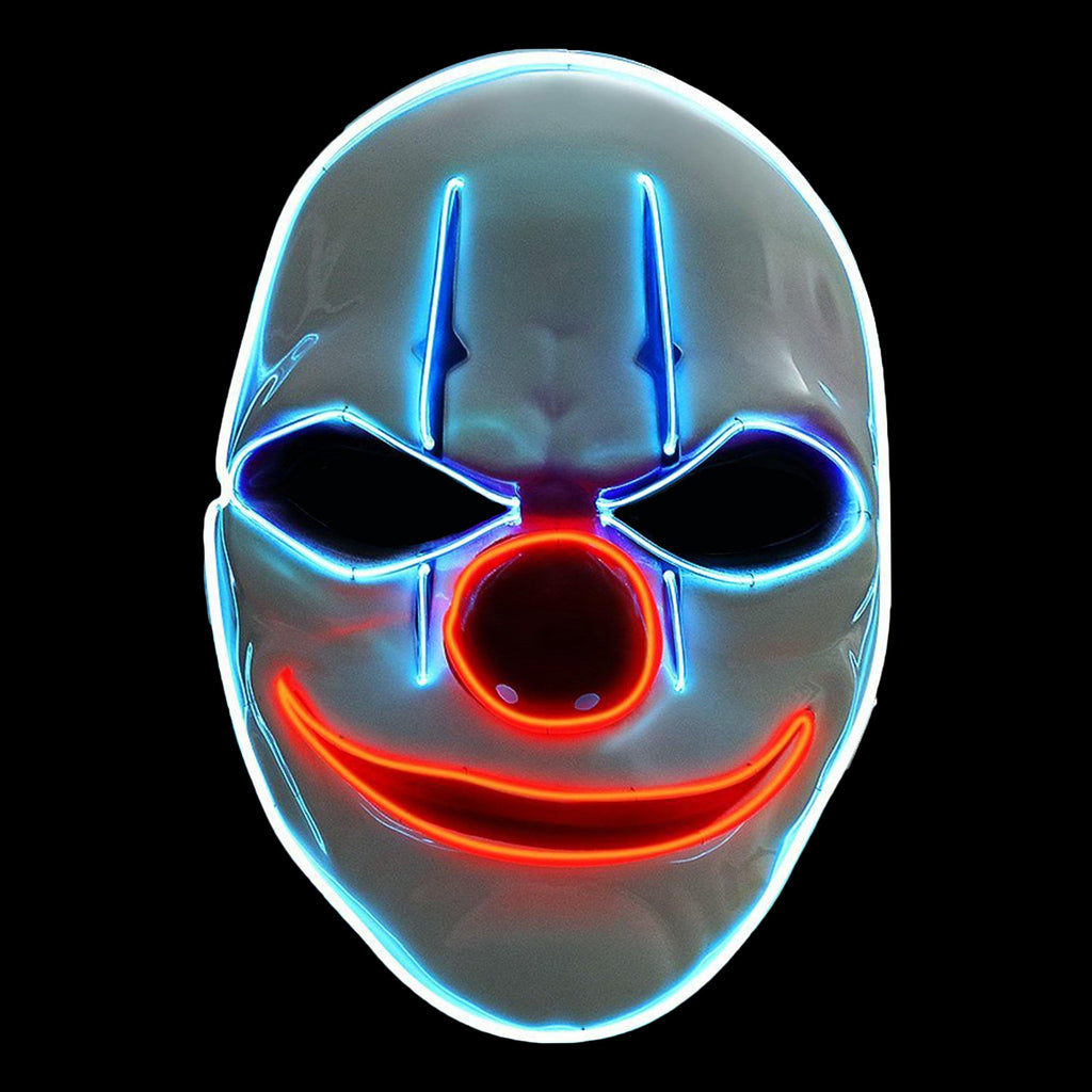 Chains Evil Clown LED Lighted Mask