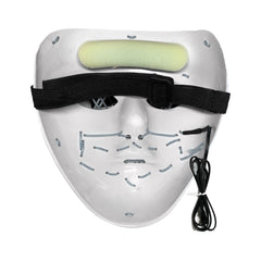 Stitched LED Lighted Mask (Outline) - White