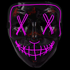 Anonymous Stitched LED Lighted Mask - Pink