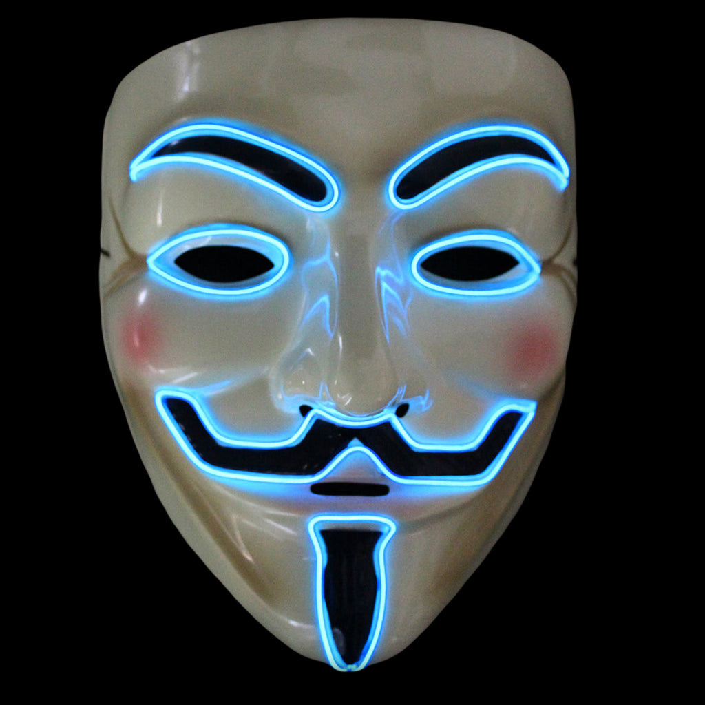 V For Vendetta LED Lighted Mask - 8 Colors