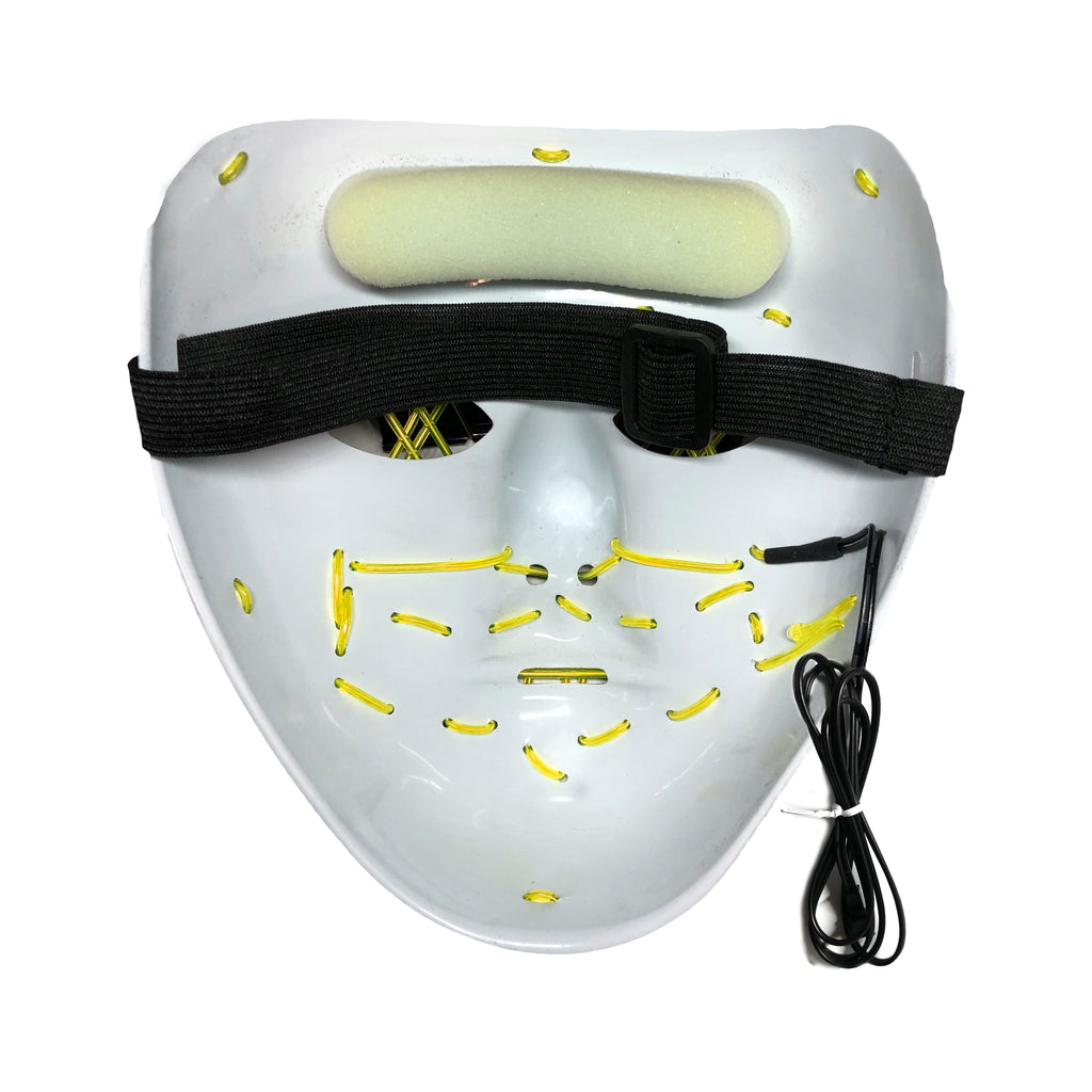 Stitched LED Lighted Mask (Outline) - Yellow