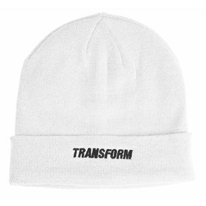 The Fast Text Beanie White - Transform