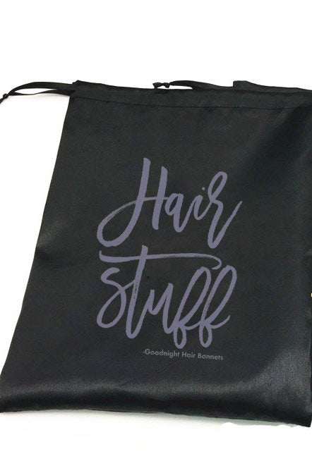 "Load image into Gallery viewer, ""Hair Stuff"" Storage Bag"