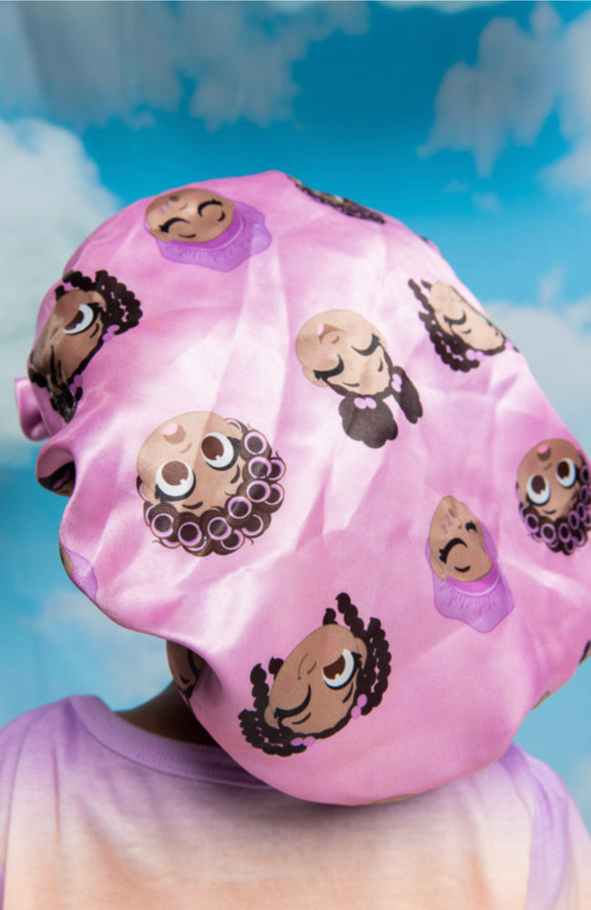 "Load image into Gallery viewer, ""Hair Emoji"" Bonnet"