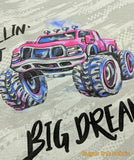 Monster Trucks - Pink Panel