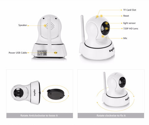 720P Camera Surveillance with Wi-Fi