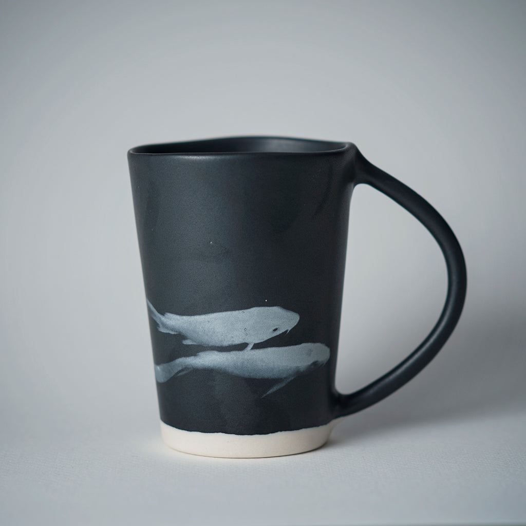 BLACK KOI FISH MUG