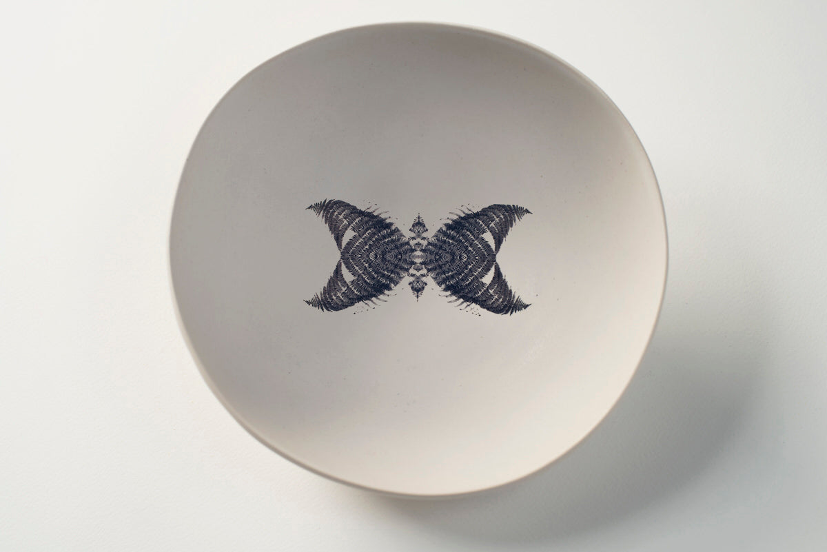 White bowl Butterfly