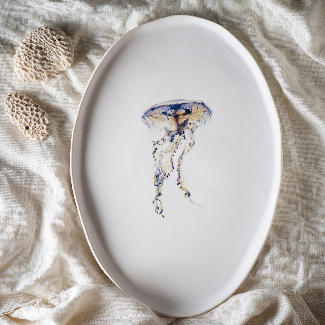 Jellyfish serving plate A