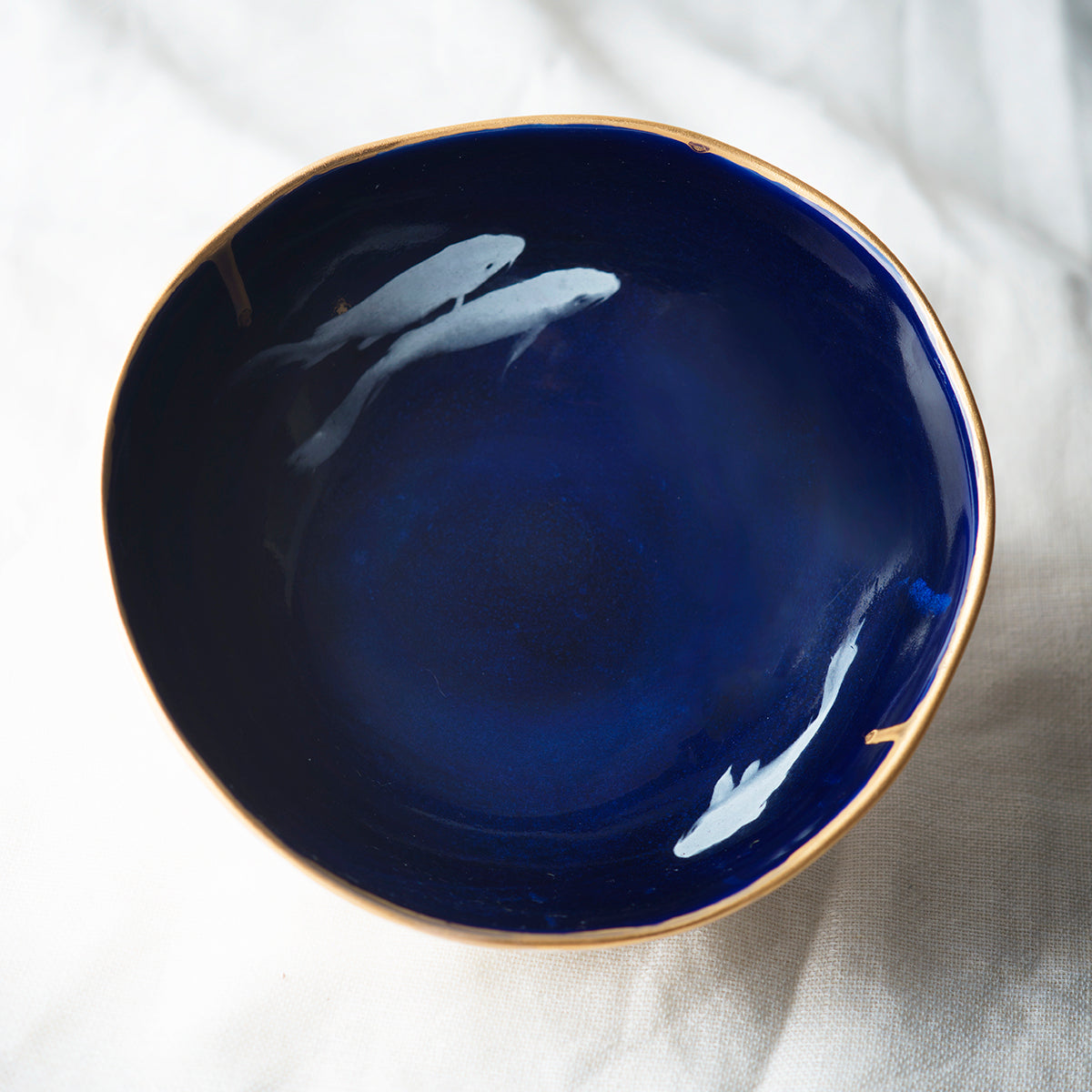 COBALT KOI FISH BOWL