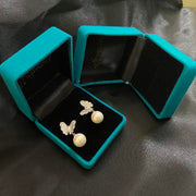 Butterfly Ear Studs With Pearl